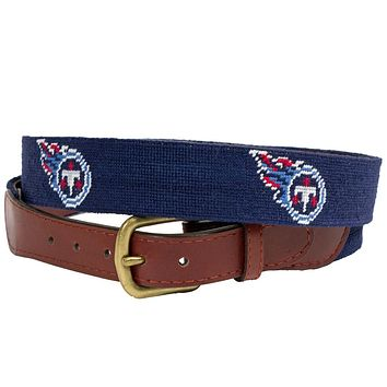 Tennessee Titans Needlepoint Belt by Smathers & Branson