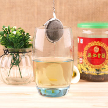 2 pcs 2016 New Stainless Steel Sphere Locking Spice Tea Ball Strainer Mesh Infuser tea strainer Filter infusor Free Shipping
