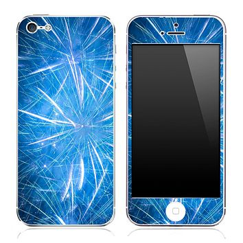 Blue Fireworks V3 Skin for the iPhone 3gs, 4/4s or 5