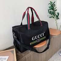 Hipgirls GUCCI New Hot Sale Canvas Printed Letter Luggage Bag
