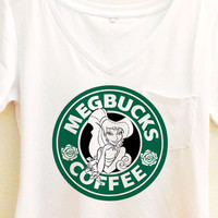 Megbucks Coffee Shirt |  Hercules and Meg Couple Starbucks | Disney