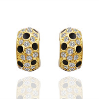Lady Bug Inspired Gold Plated Earrings