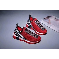 D&G Women Men Fashion Boots fashionable Casual leather Breathable Sneakers Running Shoes Sneak