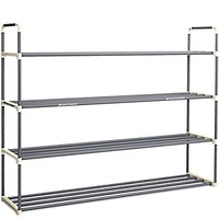 4-Tier Shoe Rack Organizer Storage Bench - Holds 24 Pairs - Organize Your Closet Cabinet or Entryway - Easy to Assemble - No Tools Required
