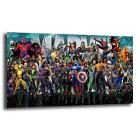 The Avengers Canvas Wall Art HD Printed Marvel Movies Super Heroes Figure Painting Living Room Bedroom Home Bedroom Decoration