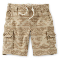 Canvas Pull-On Cargo Shorts