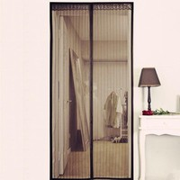 210*100Cm Curtains Of Mosquito Magnetic Mesh Net Instant Screen Door Mosquito Closure Dual Open Curtain For Home Kitchen