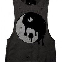 Ying' Distressed-Tank by Youreyeslie.com Online store> Shop the collection