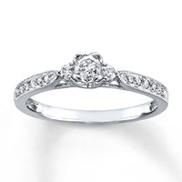 HEARTessence Ring 1/3 ct tw Diamonds 10K White Gold