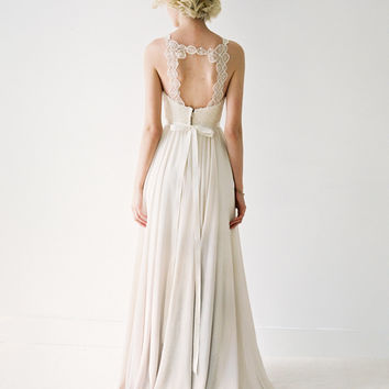 Berkeley // Chiffon Wedding Gown With Unique Medallion Lace