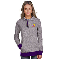 Women's Los Angeles Lakers Antigua Purple Swift Cowl Neck Pullover Hoodie