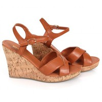 Keep On Walking Camel Strappy Wedges | Monday Dress Boutique