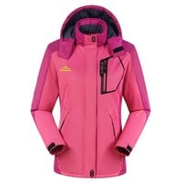 Free Shipping High Quality Women Ski Jacket Snowboarding Colorful Warm Waterproof Windproof Breathable Skiing Jackets Clothes