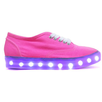 ILLUMINATE PINK LIGHT-UP SNEAKERS