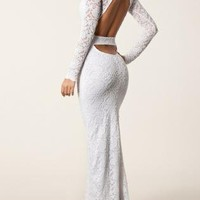Italian Lace Couture Cut Out Maxi Dress
