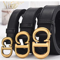 Dior men's and women's CD letter smooth buckle belt