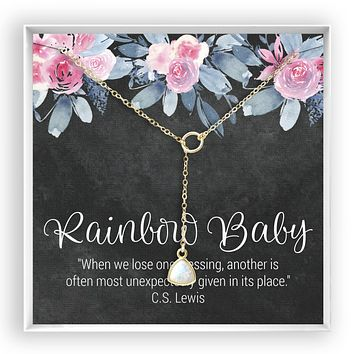 Rainbow Baby  Opal Necklace