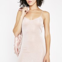 Blushing Babe Shimmer Dress