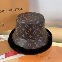 LV Hair Hat New leather fisherman's hat