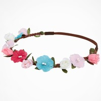 SMALL MULTI COLOR FLOWER CROWN