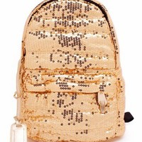 metallic sequin backpack $40.30 in GOLD RED ROYAL - Bags   GoJane.com