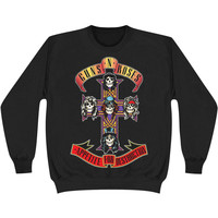 Guns N Roses Men's  Appetite For Destruction Sweatshirt Black