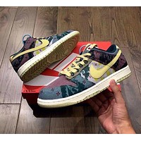 Nike SB DUNK LOW lemon water wash small cashew flower joint AJ sneakers low cut couple men and women shoes