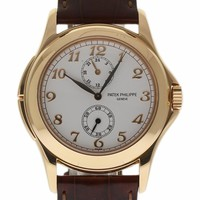 Patek Philippe Calatrava Travel Time mechanical-hand-wind mens Watch 5134R-001 (Certified Pre-owned)