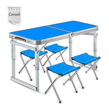 Camping Picnic Table Chair Sets Durable Folding Table Waterproof Aluminium Desks Ultra-light Foldable Chairs Camping Accessories