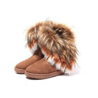Generic Fashion New Women Autumn Winter Snow Boots Ankle Boots Warm Fur Shoes (women 38, yellow)