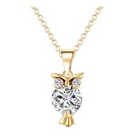 Necklace owl zircon necklace fashion accessories