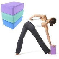 Yoga Block Brick Aerobic Pilates Foam Exercise Fitness Health Gym Sport Tool 140-09-00437 (Size: 0, Color: Multicolor) [8069647687]
