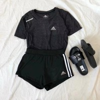 Adidas Short sleeve Top Shorts Pants Sweatpants Set Two-Piece Sportswear