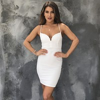 Love Never Runs Out Bodycon Dress in White