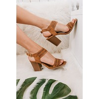 Lady In Charge Cutout Heeled Sandals (Camel Distressed)