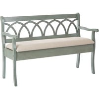 OSP Coventry Storage Bench with Beige Seat Cushion & Antique Sage Frame