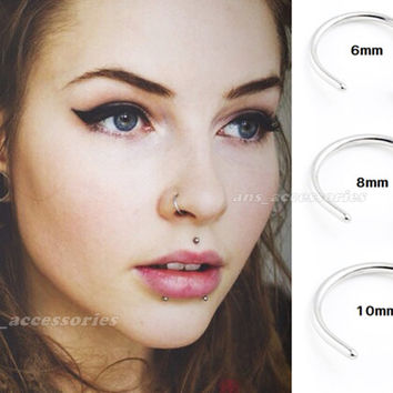 Extra Thin Small 0.8mm Nose Ring  Small Nose Hoop Diameter 6mm,8mm,10mm Piercing Body Jewellery