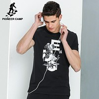 New short T shirt men clothing fashion casual T-shirt male top quality elastic Tops tees for men