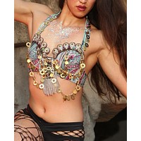 Evil Eye Steampunk Halter Bra Top