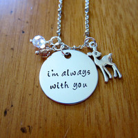 Bambi Inspired Necklace. I'm Always With You. Bambi Jewelry. Father Daughter Necklace. Mother Daughter Necklace. Swarovski Crystals. Love.