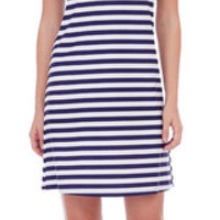 Jude Connally Lisa Dress in Navy Stripes