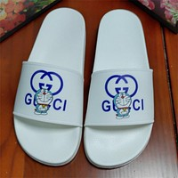 GG summer new men's and women's double slippers shoes
