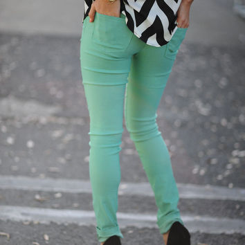 Girl On The Prowl Pants: Mint | Hope's