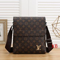 Louis Vuitton Men Fashion Leather Crossbody Shoulder Bag Satchel