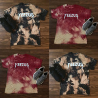 YEEZUS series of round-necked color-printed short-sleeved men's T-shirt