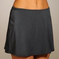 Aerin Rose Solid Swim Skirt with High Waisted Bottom (85511) $39.99