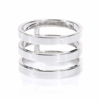 Berbere 18kt white gold ring
