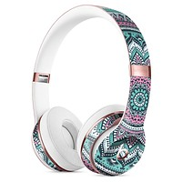 Green and Pink Circle Mandala v9 Full-Body Skin Kit for the Beats by Dre Solo 3 Wireless Headphones