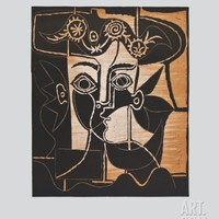 Large Woman's Head with decorated Hat Collectable Print by Pablo Picasso at Art.com