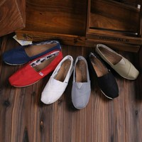 TOMS UNISEX FLAT SHOES FASHION LEISURE LOAFERS-7